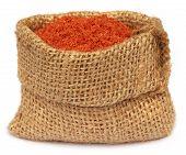 image of potash  - Muriate of potash fertilizer in a sack bag - JPG