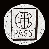 stock photo of passport cover  - Doodle Passport - JPG