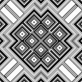 image of quadrangles  - Seamless black and white geometric background generated from squers - JPG
