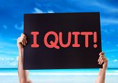 picture of quit  - I Quit card with beach background - JPG