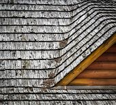 stock photo of shingles  - background or texture detail dormers on the roof shingles - JPG