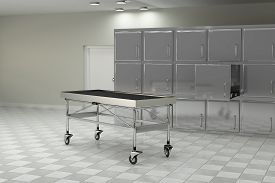 picture of autopsy  - 3d rendering of a macabre autopsy room - JPG