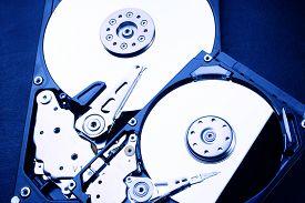 stock photo of x-files  - 2 x HDD blue   - JPG