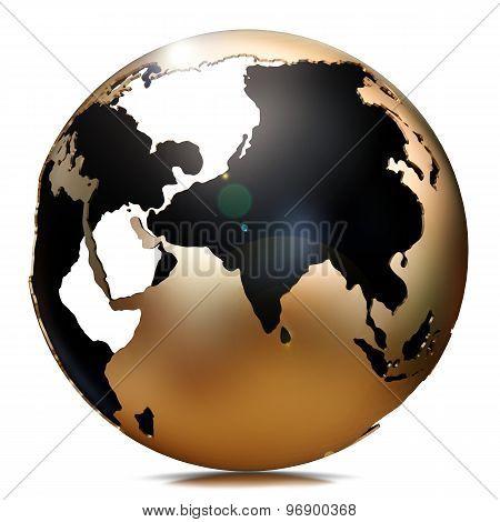 Illustration Of A Golden Globe