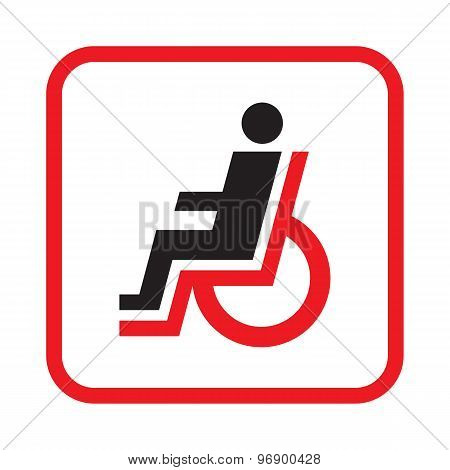 Disabled human - vector icon sign. Disabled - new concept illustration. Design element.