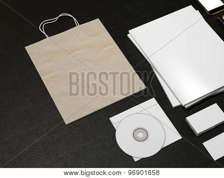 Set Of Identity Elements And Blank Magazine