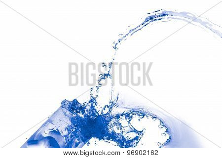 Water splash background.
