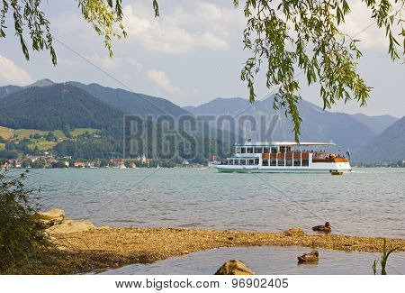 Round Trip Lake Tegernsee, Tourist Attraction In Summer