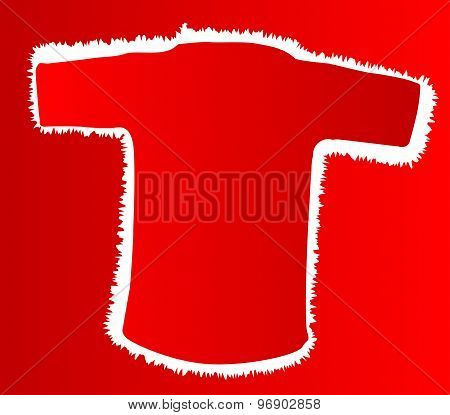 Red T Shirt Outline