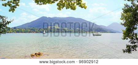View To Lake Tegernsee, Tranquil Scenery