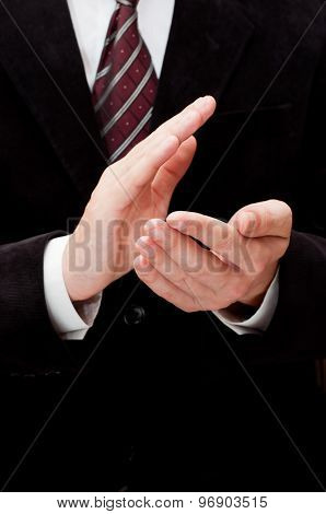 Male Hands Clapping