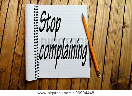 Stop Complaining Word