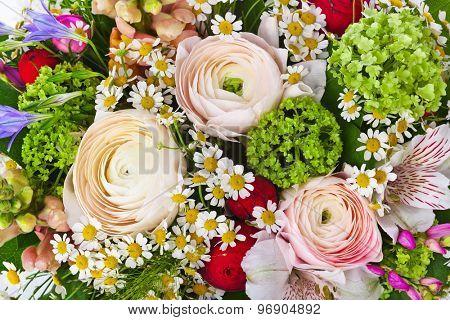 Flowers bouquet - nature floral background