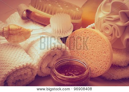 Set For Care Of Skin Body, Bath Accessories