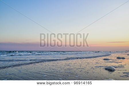 Atlantic Ocean Twilight Background