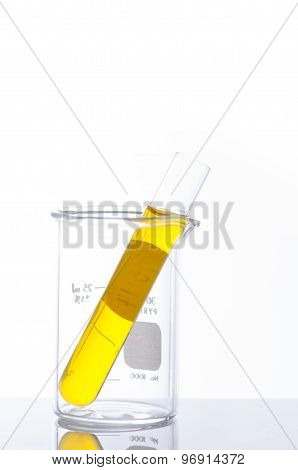 Test Tubes And Pipette Drop, Laboratory Glassware For Research