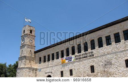 SAFED, ISRAEL - JUNE 29, 2008: The building of Saraya on June 29, 2008 in Old City Safed, Israel