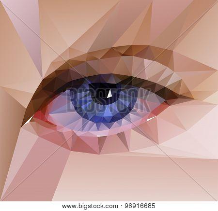 color eye design. Hi-tech concept