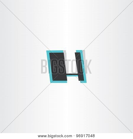 Letter H Abstract Icon Logotype Design