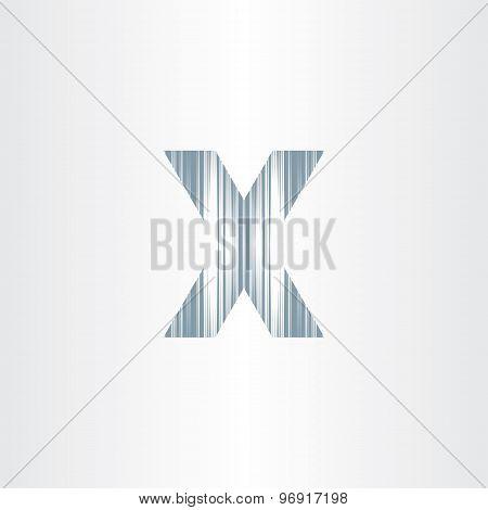 Scratched Letter X Symbol