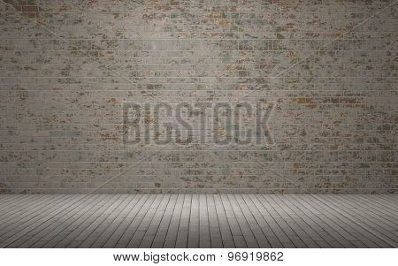 3d render of an Exposed brick wall