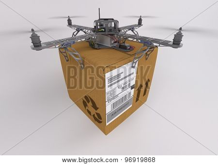 3d render of a quadcopter drone