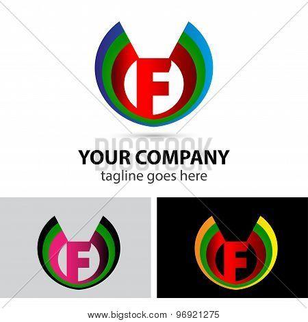Logo letter F company vector design template