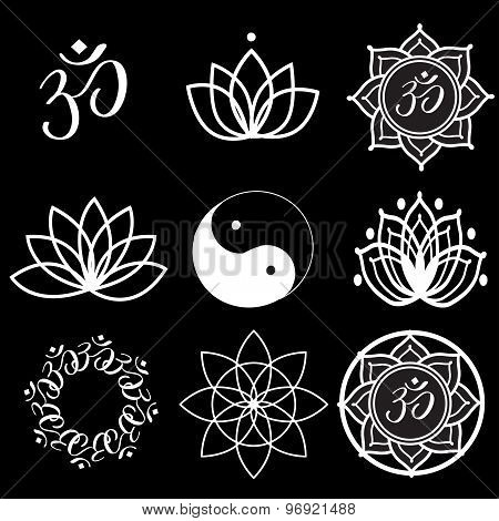Yoga Labels And Icons