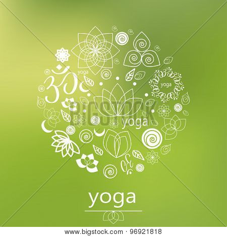 Vector Yoga Logo In Green