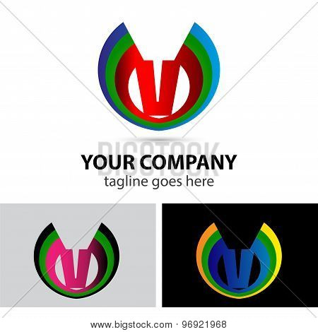 Logo letter V company vector design template