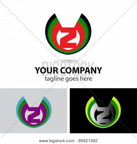 Logo number 2 company vector design template