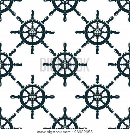 Vintage nautical helms seamless pattern