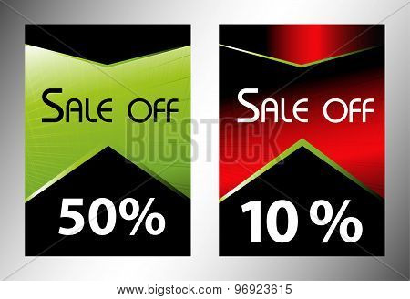 Sale off tag discount