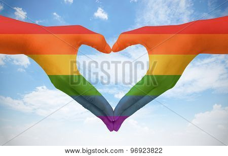 Symbolizing Gay Love. Freedom Concept.