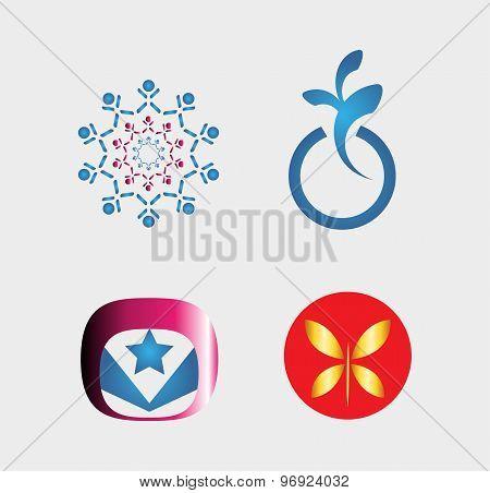 Set of logo design elements for your projec