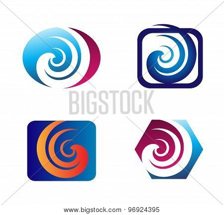 Spiral design elements logo
