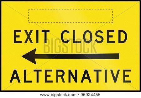 Exit Closed - Alternative Left In Australia