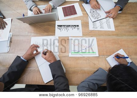 Idea brainstorm against business people in board room meeting