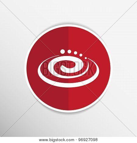 Hygienic cream, top view vector illustration Cream particles icon