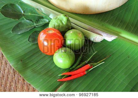 Thai vegetable on block