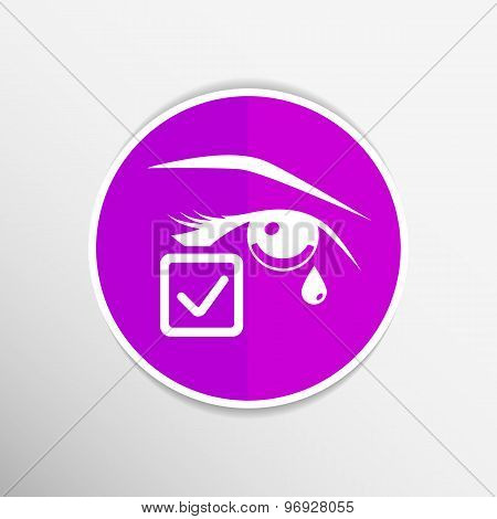 Eye with tears vector illustration eye isolated sign symbol  icon