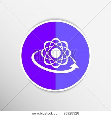 Molecular compound vector icon chemistry, molecular, medical