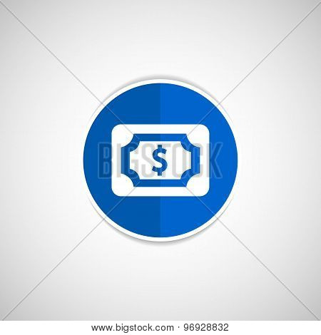 Flat icon of money market business sign symbol dollar