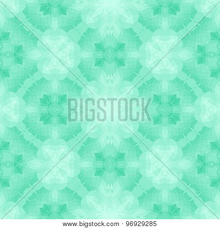 Seamless Mosaic Pattern Or Background In Green