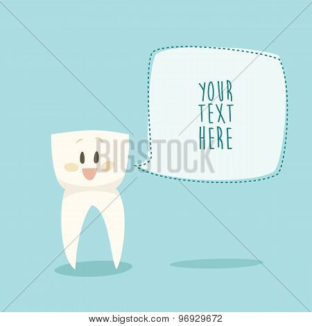 stomatologist funny tooth healthy teeth flat