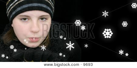 Blowing Snowflakes poster