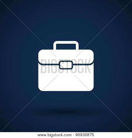 suitcase icon travel business sign symbol