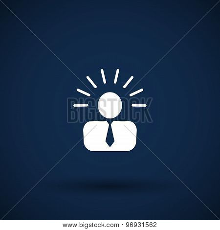 icon suggestion idea concept lightbulb people