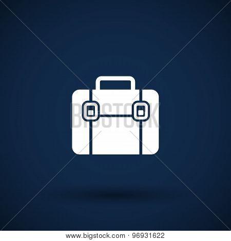 Briefcase icon, vector illustration. Flat design