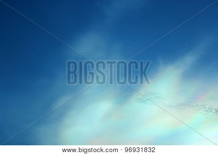 Beautiful Iridescent Colorful Cloud
